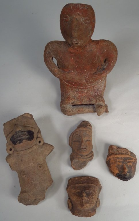 Group of Precolumbian Heads and Figures.