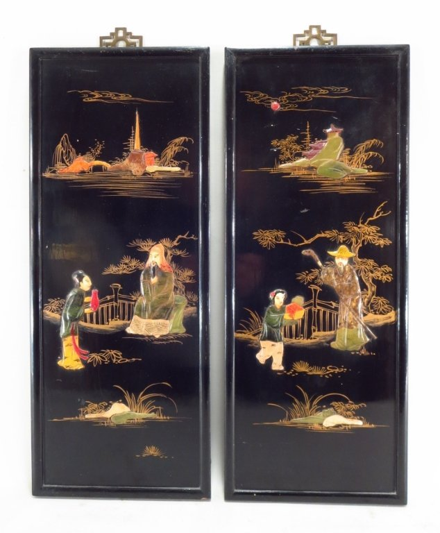 Decorative Asian Panels, 20th C.,