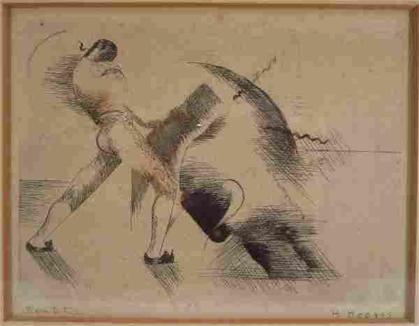 """Henrietta Hooper, Lithograph, """"Bon a Tirer"""""""