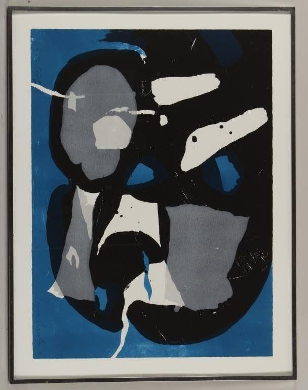 James Brooks,Am., screenprint in Colors on paper