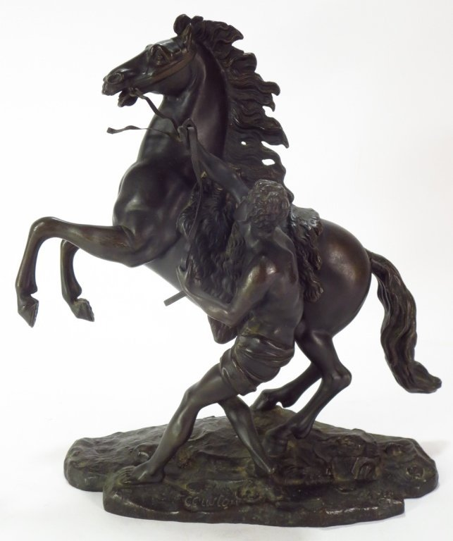 After Coustou, Marly Horse, Bronze Sculpture