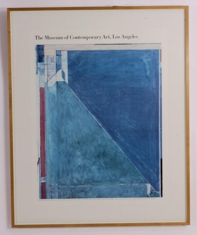 MOCA Los Angeles Richard Diebenkorn Poster