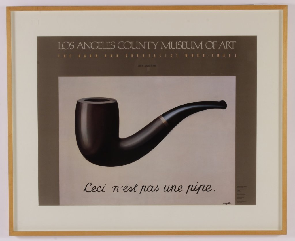 Large 1989 Dada Poster for LACMA, Magritte