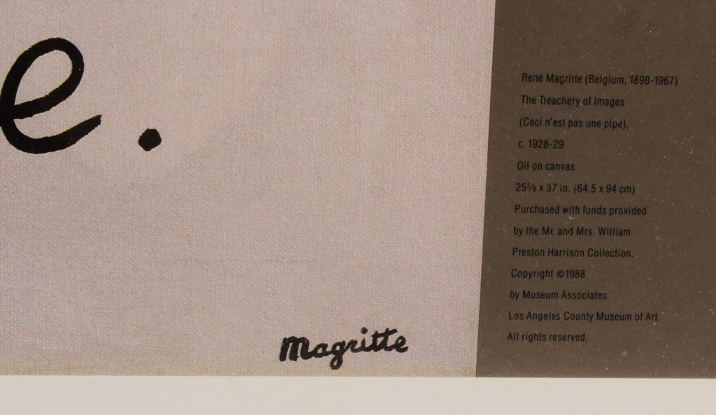 Large 1989 Dada Poster for LACMA, Magritte - 3