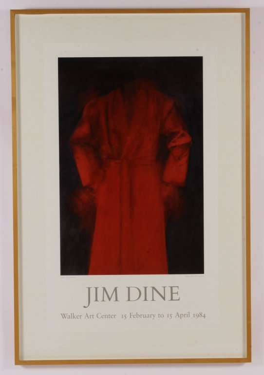 Large 1984 Exhibition Poster - Jim Dine, Walker Ar