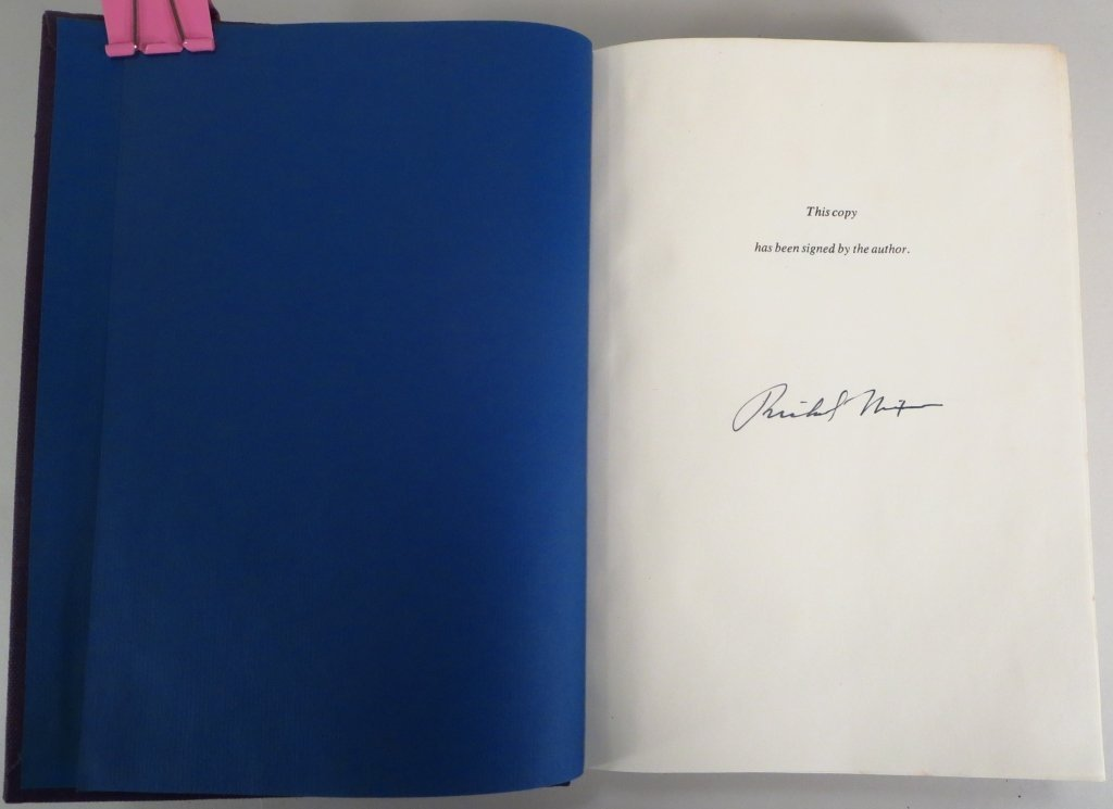 Signed Copy of Memoirs of Richard Nixon - 2
