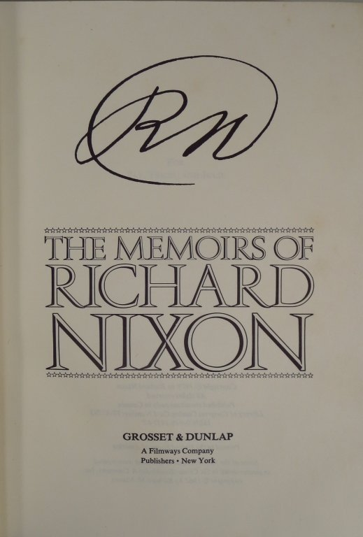 Signed Copy of Memoirs of Richard Nixon - 3