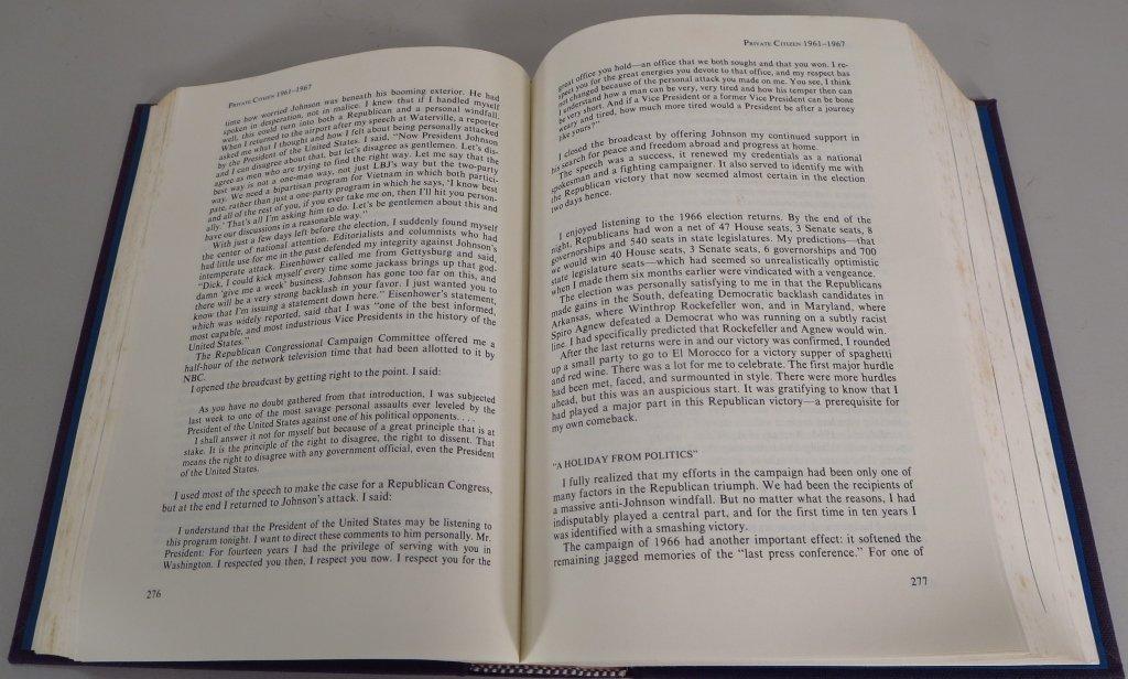 Signed Copy of Memoirs of Richard Nixon - 5