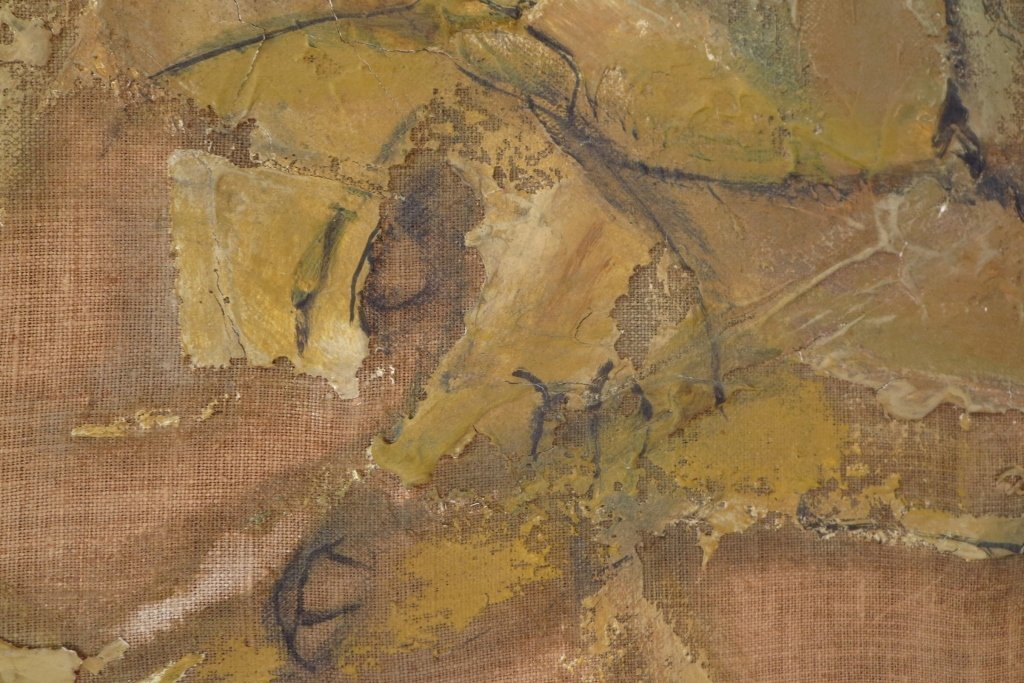 Gino Hollander,Am., Figural Abstract, o/c,signed - 3
