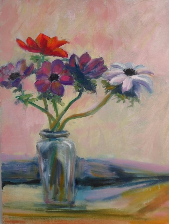 S. Rubel, Two Still Lifes, Oil on Canvas.