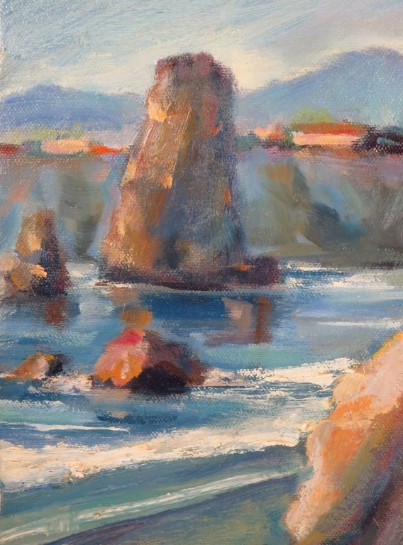 S. Rubel, Two Coastline Views, Oil on Canvas - 5