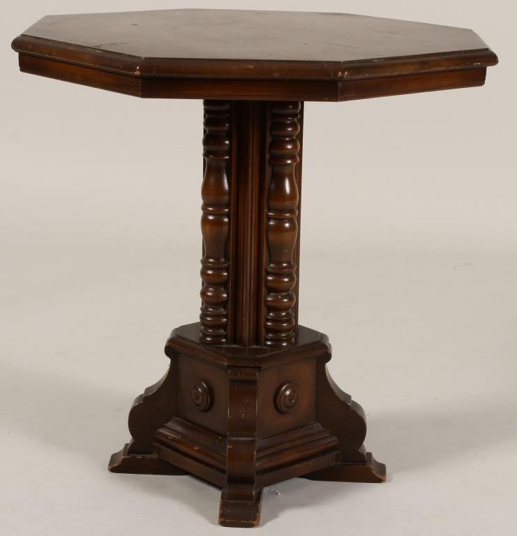Octagonal Mahogany Occasional Table - 2