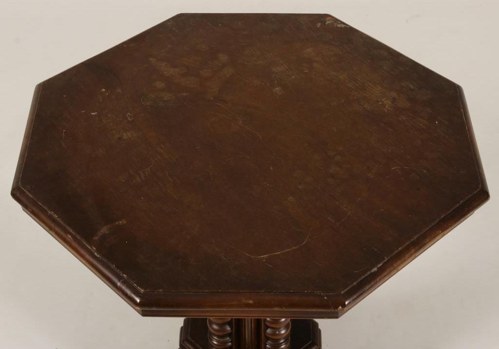 Octagonal Mahogany Occasional Table - 3