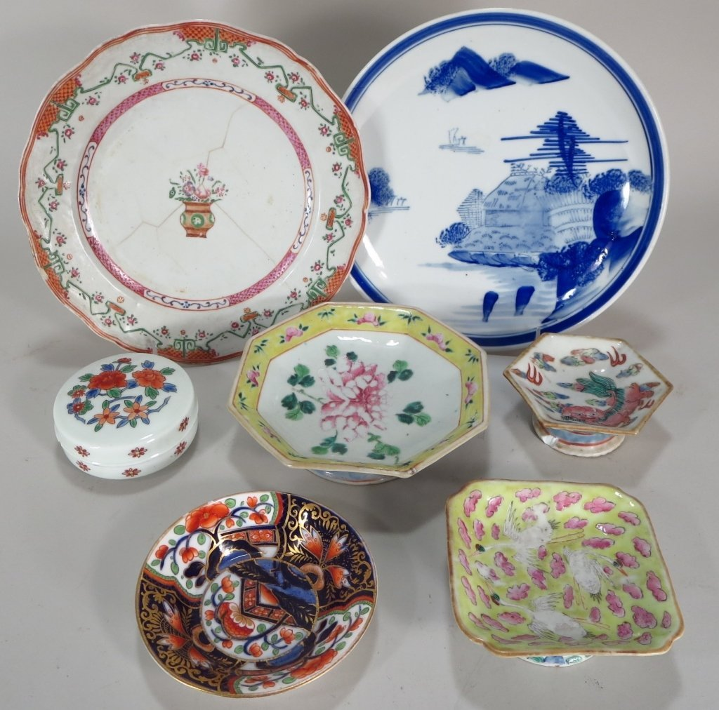 Six Pieces of Asian Porcelain & Imari Pattern Dish