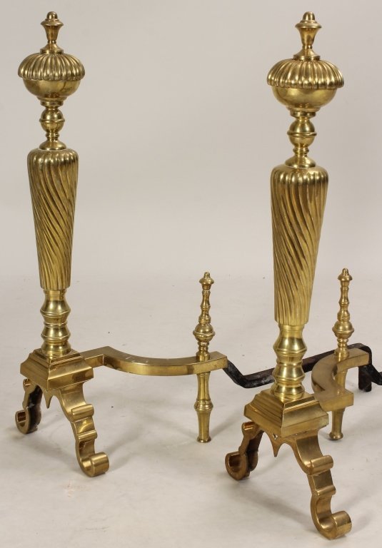 2 Pairs of Large Andirons, 19th C. - 4