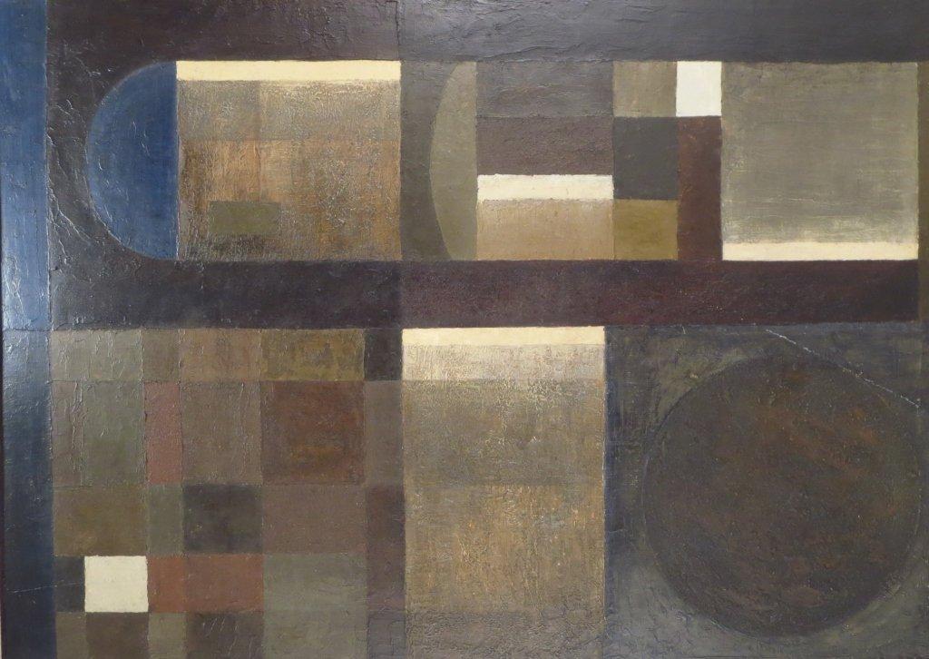 2 Modern Geometric Paintings