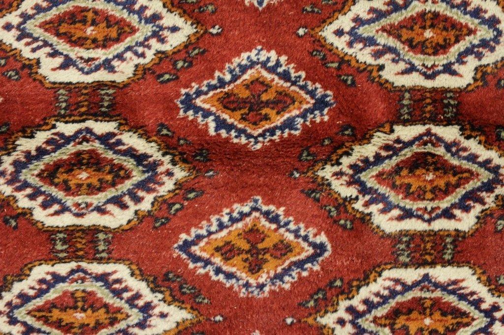 Iranian Wool Rug; Diamond & Hexagonal Shapes