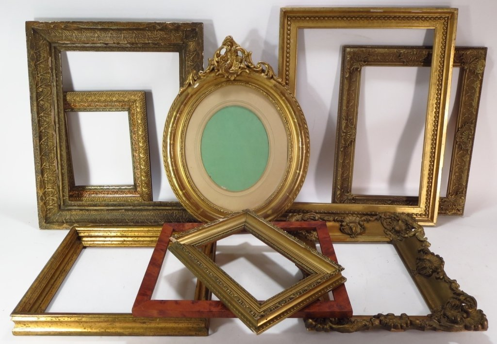 Group of 9 Decorative Wood Frames.
