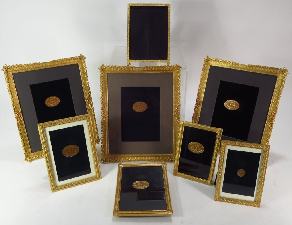 8 Ornate Gilt Pewter/Metal Picture Frames