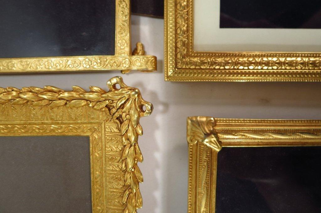 8 Ornate Gilt Pewter/Metal Picture Frames - 2