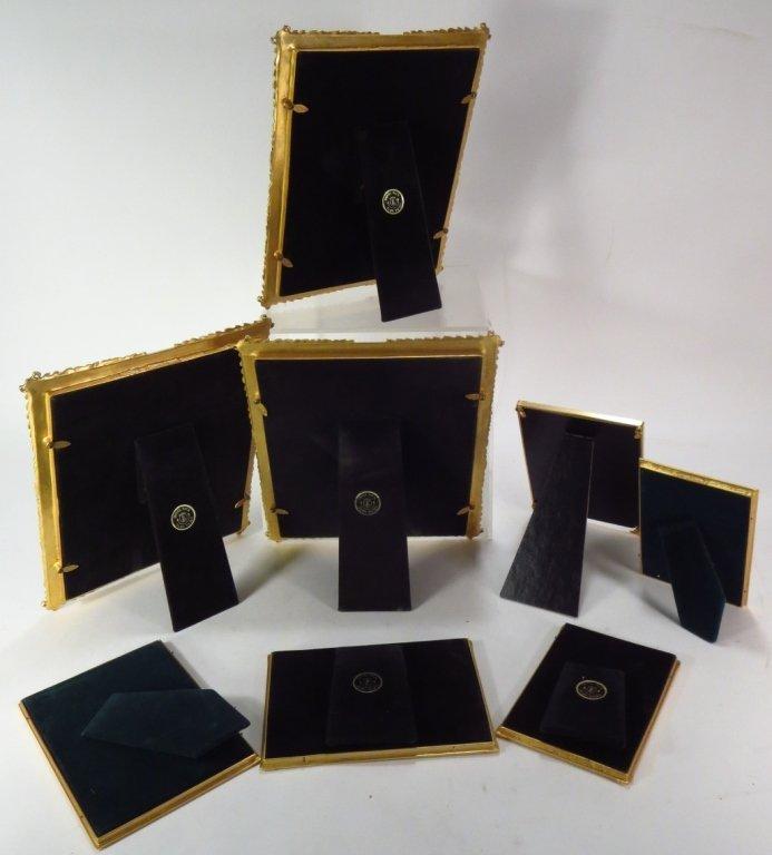 8 Ornate Gilt Pewter/Metal Picture Frames - 3