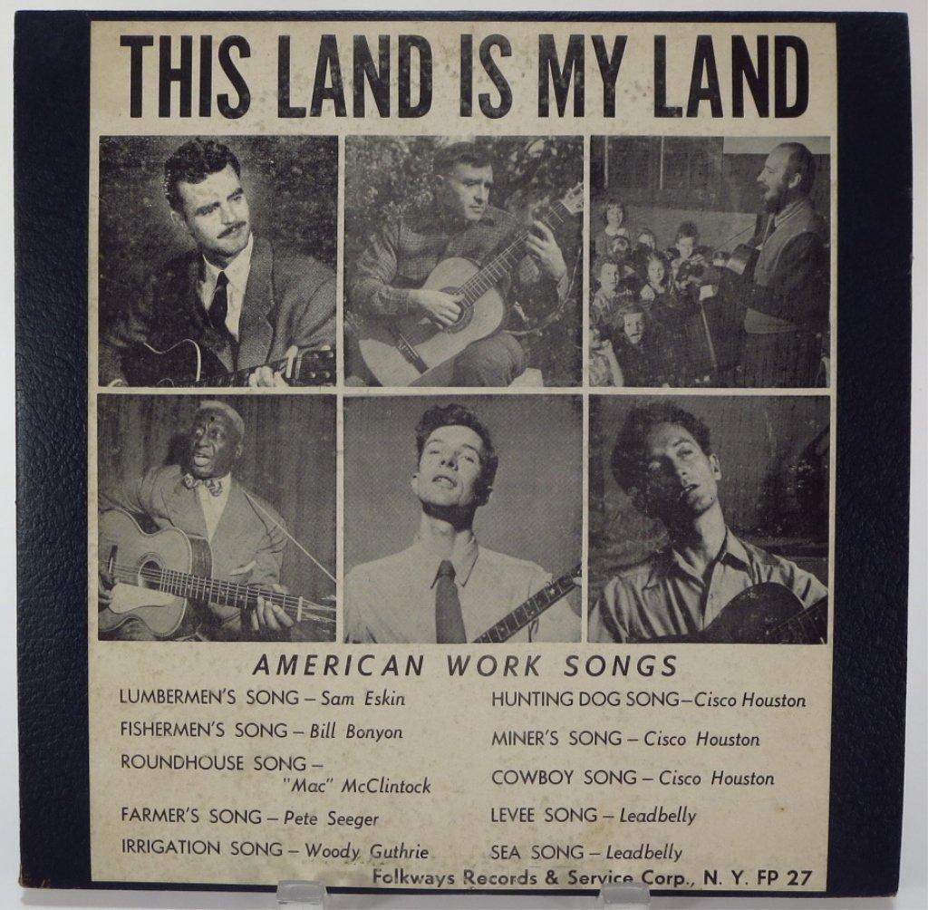 """Guthrie Original 1951 LP """"This Land is My Land"""""""