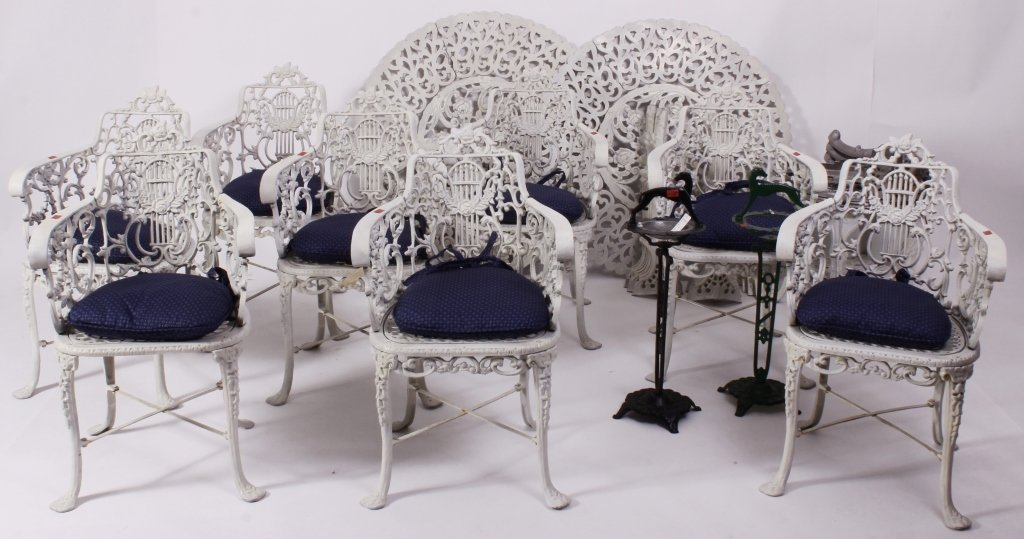 15 pc Outdoor Garden Furniture Victorian Style