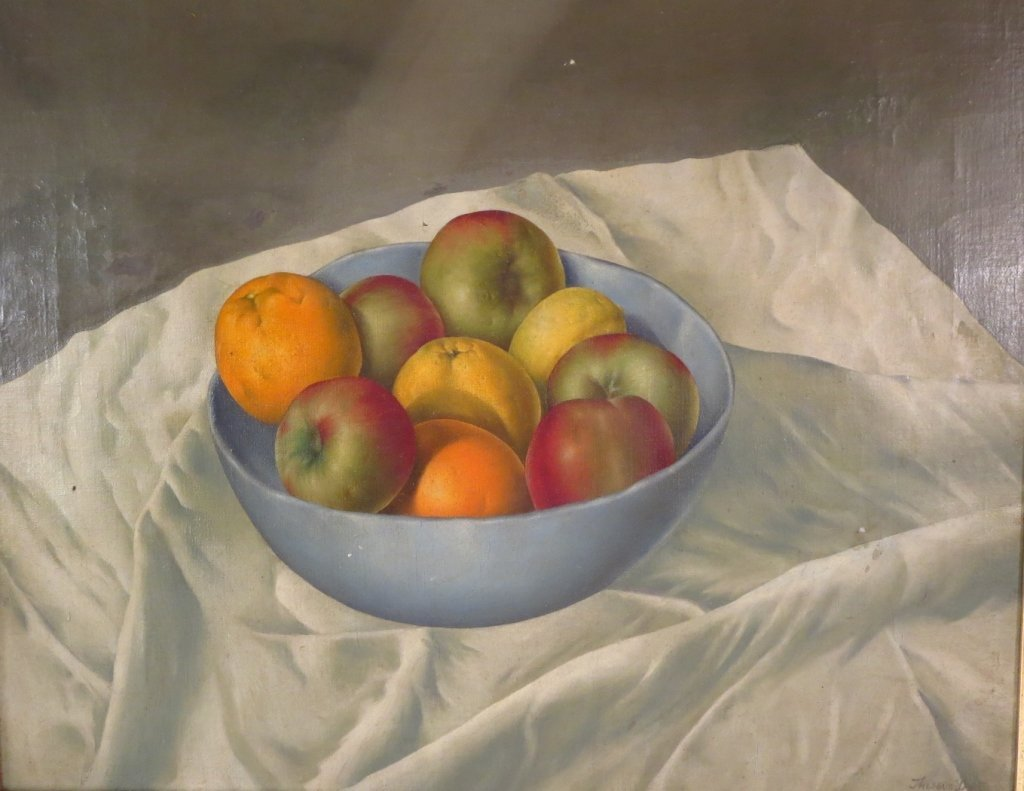 Still-Life, Bowl of Fruit, O/C