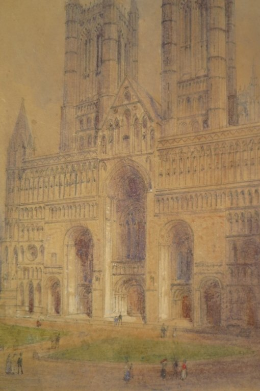 "Edwin Dolby, ""Lincoln Cathedral West Front"", W/C"