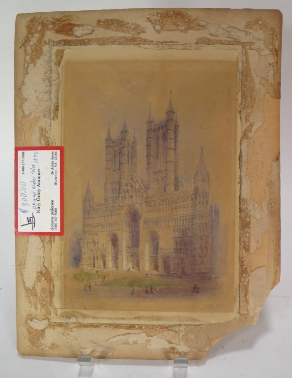 "Edwin Dolby, ""Lincoln Cathedral West Front"", W/C - 2"