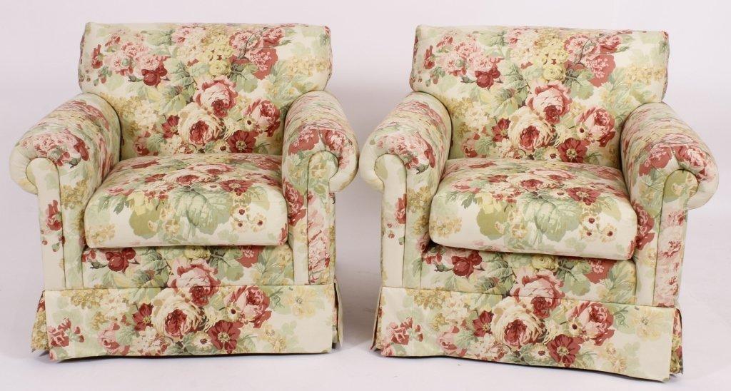 "Pair of ""Classic Sofa"", Arm Chairs ""Hampton Chair"""
