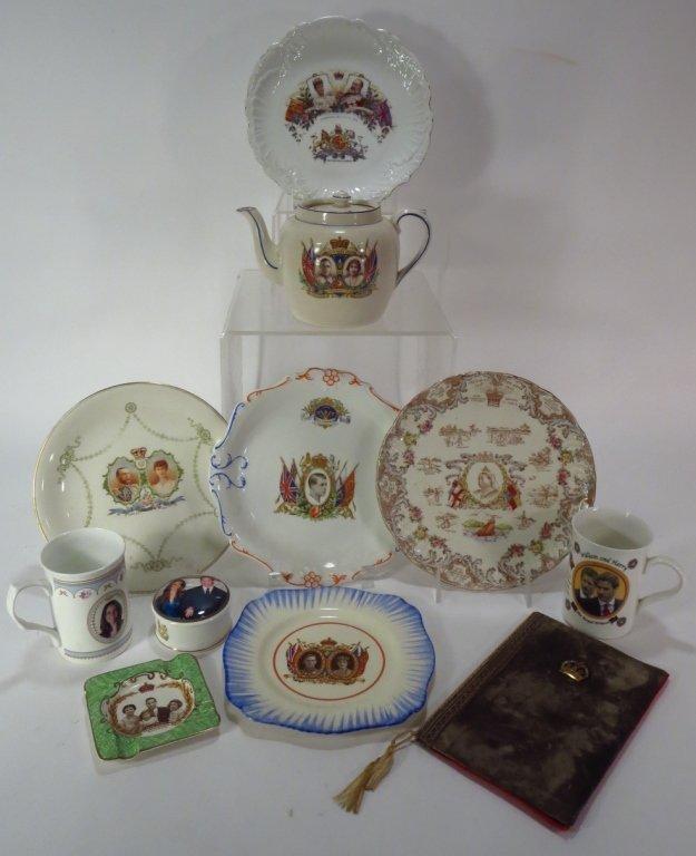 11 British Royal Commemorative Items, 19th/20th C.