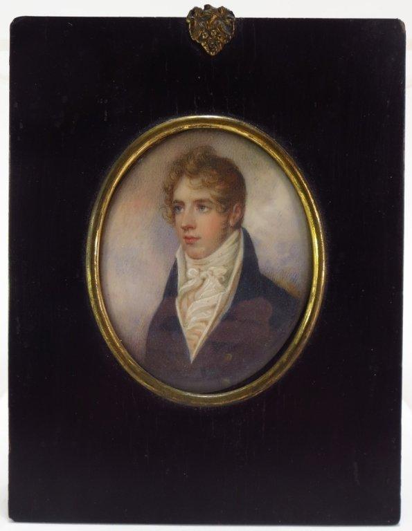 Antique Portrait of Handsome Gentleman,  19th C.