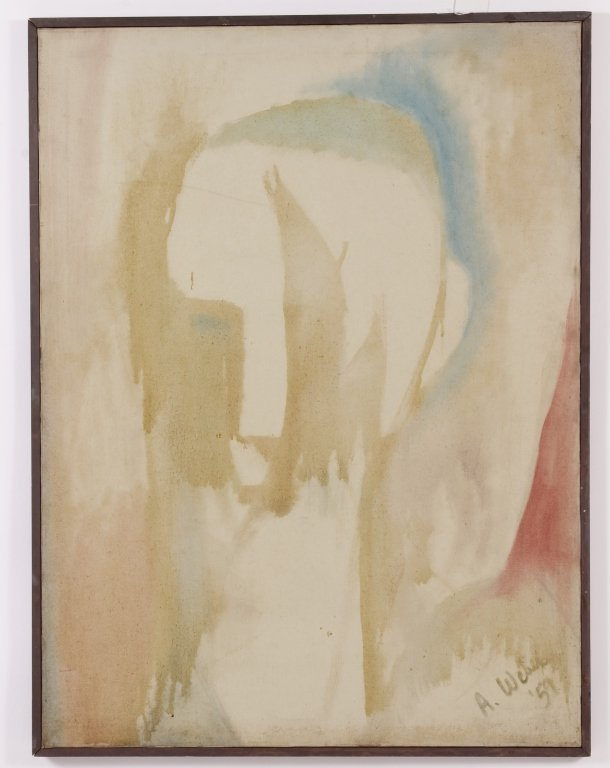 Arnold Weber, Am., Early Abstract Portrait O/C
