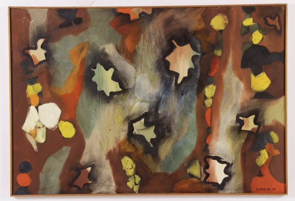 Arnold Weber, Am., Autumn Leaves Abstract, O/C