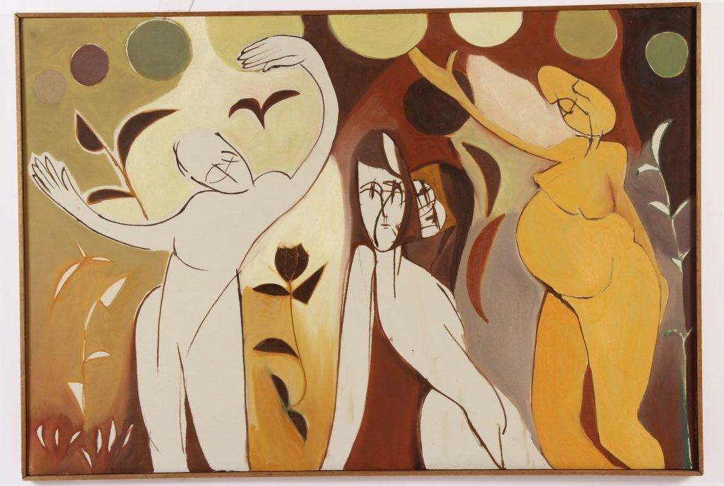 Arnold Weber, Am., 3 Figures Abstract, O/C