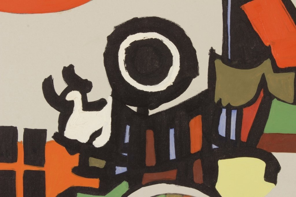 Arnold Weber, Am., City Scape Abstract, O/C - 3