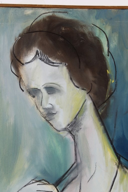 Arnold Weber, Am., Abstract Portrait of Woman, O/C - 2
