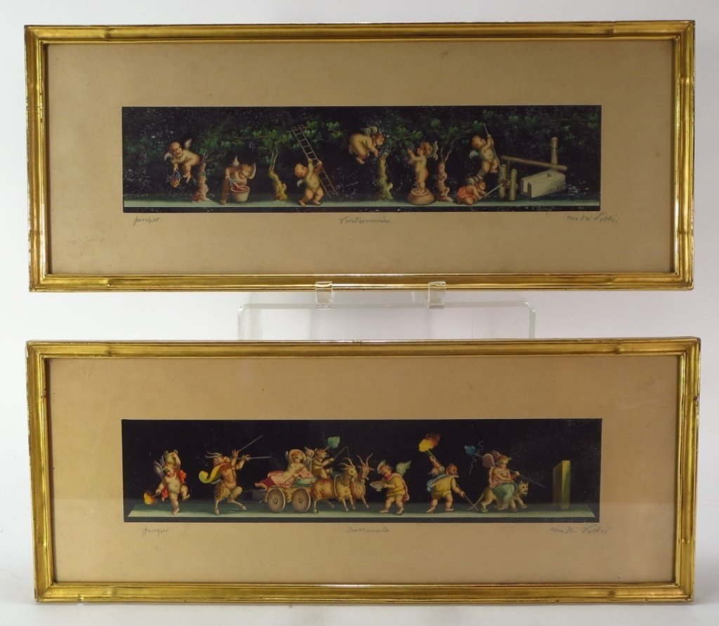 Two Continental Watercolors, 19th C.
