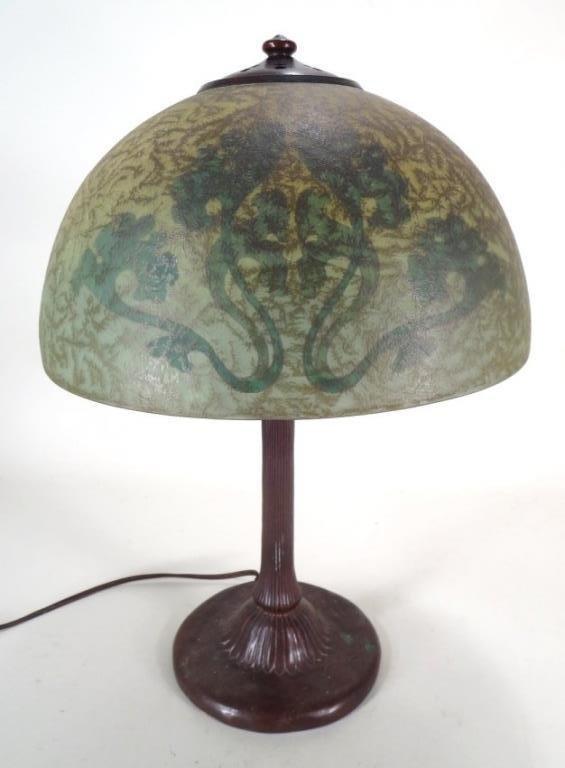 Handel Bronze Lamp Base, American, early 20th C.,