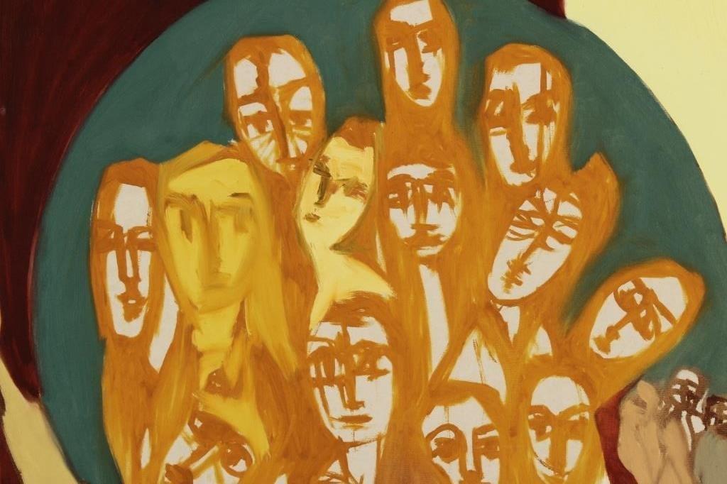 Arnold Weber, 1931- 2010, Orange Faces. - 3