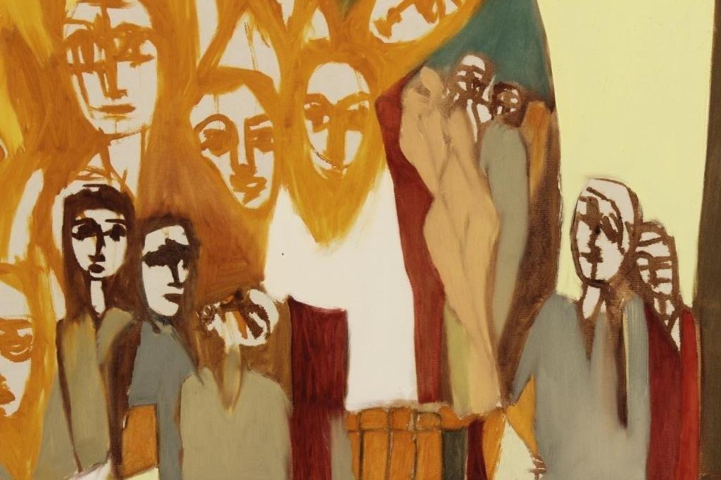Arnold Weber, 1931- 2010, Orange Faces. - 4