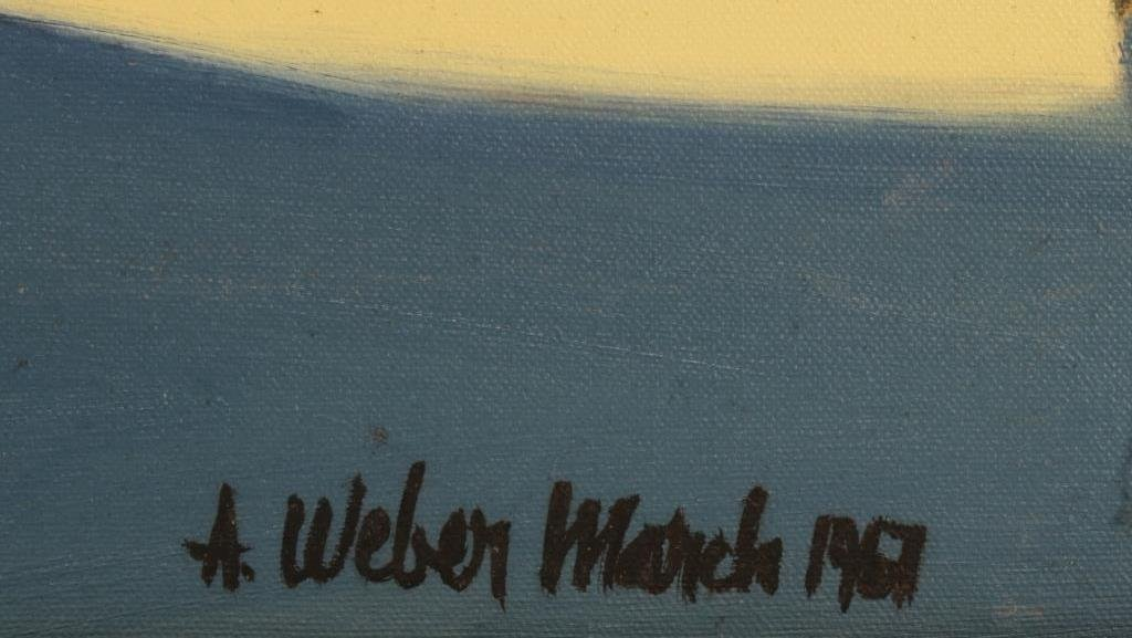 Arnold Weber, 1931- 2010, Orange Faces. - 5