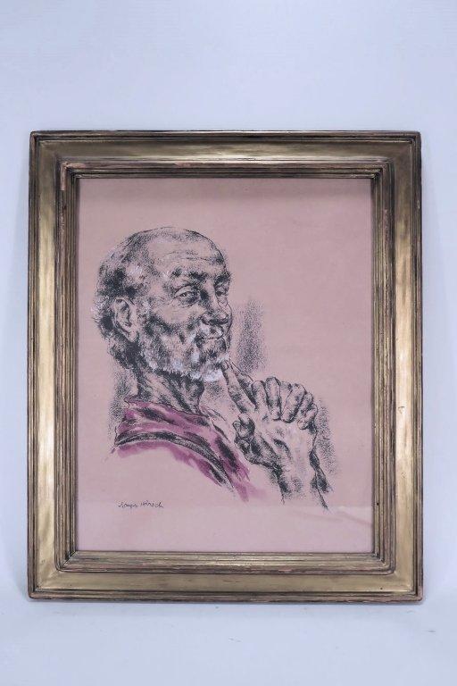 Joseph Hirsch, Portrait, Drawing on Paper