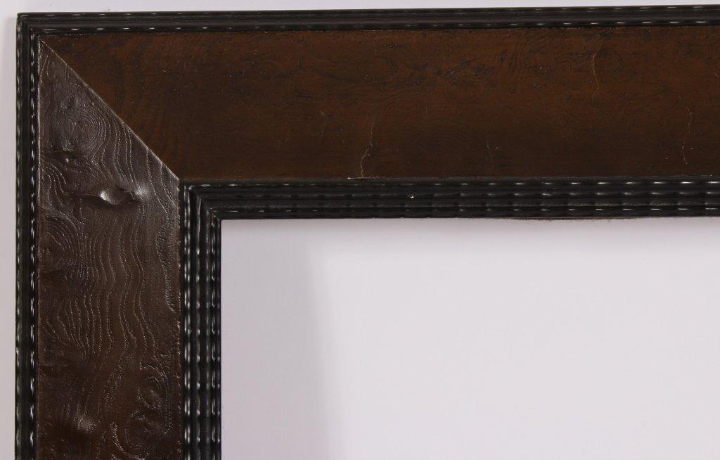 Black Ripple and Burl Veneer Frame, Midcentury