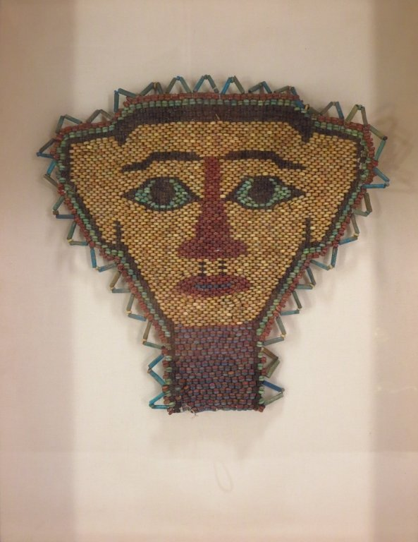Ancient Egyptian Beaded Mummy Mask, c. 600 B.C.