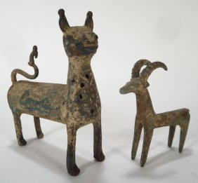 Two Persian Bronze Animals, Ancient & Islamic
