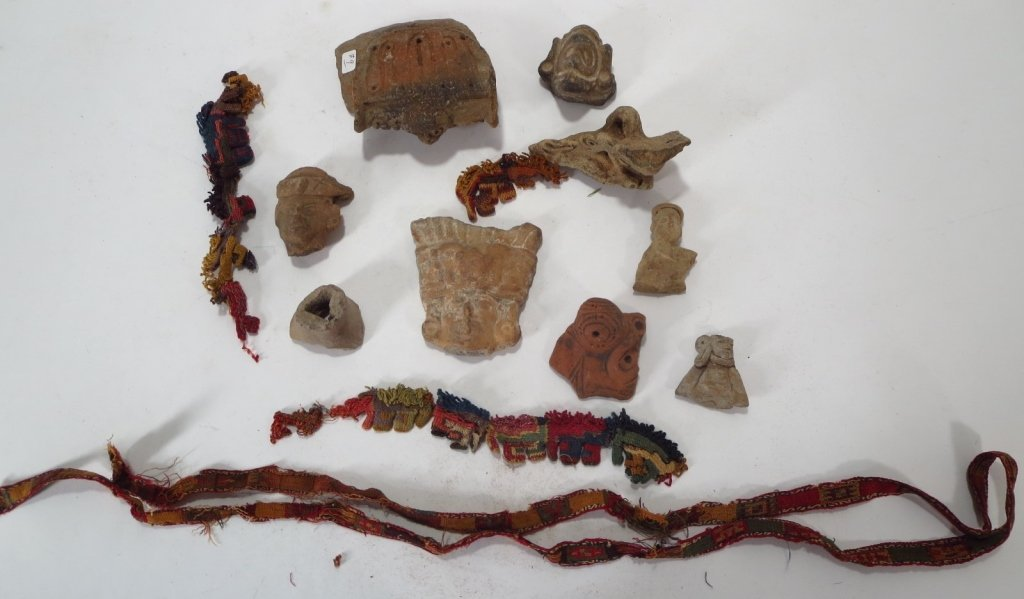 Lot of Pre-Columbian Artifacts, c. 500 AD.