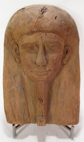 Ancient Egyptian Sarcophagus Mask, c. 600 BC
