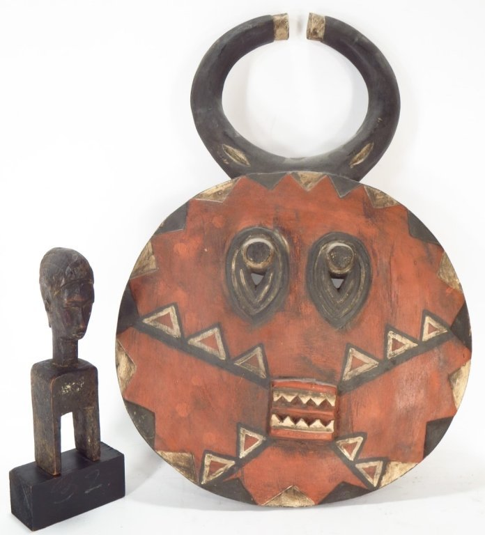 Baule Animal Mask, and a Bamana Door Latch